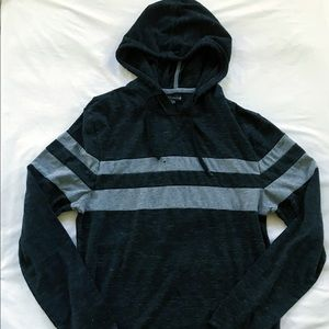 Black and grey sweater hoodie